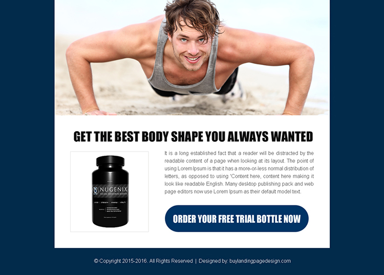 bodybuilding free trial bottle converting ppv landing page design
