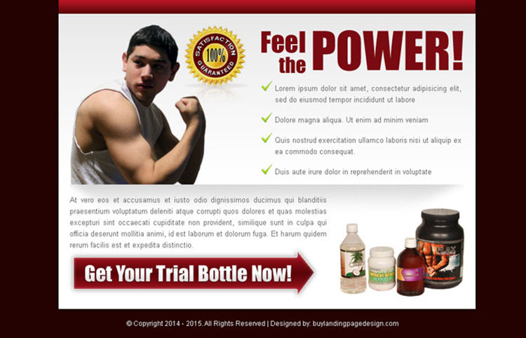 bodybuilding product converting ppv landing page design
