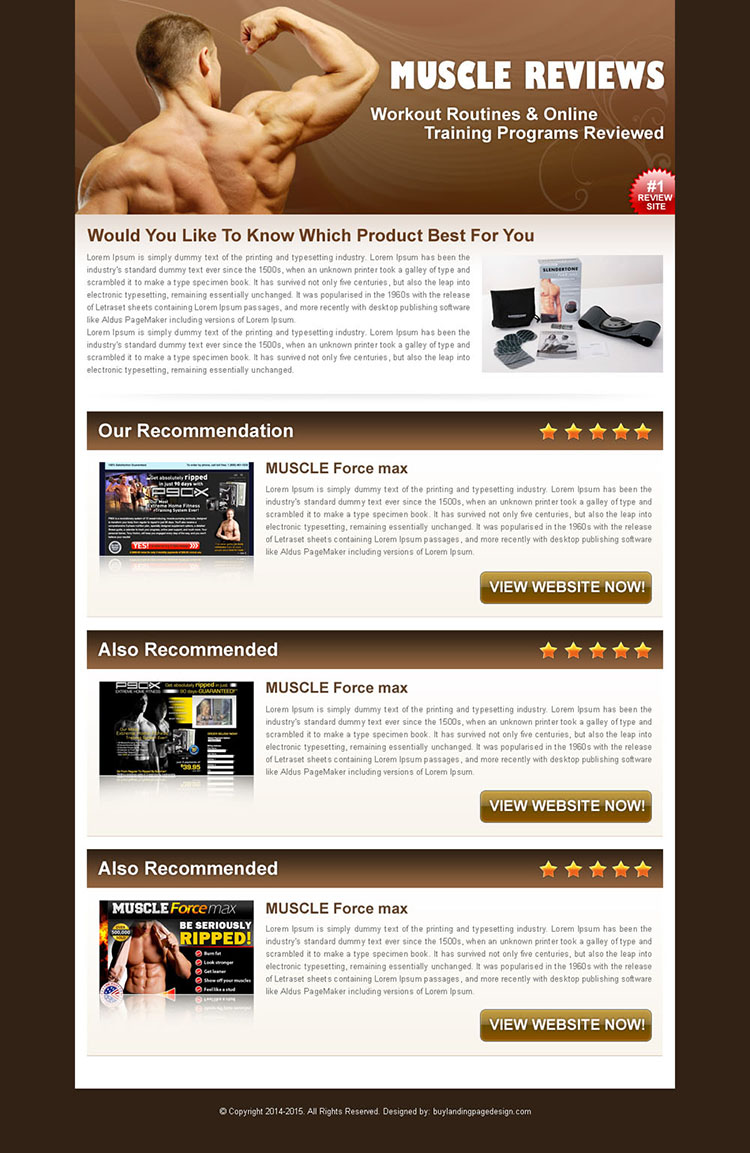 online training program build muscle website html review type landing page design