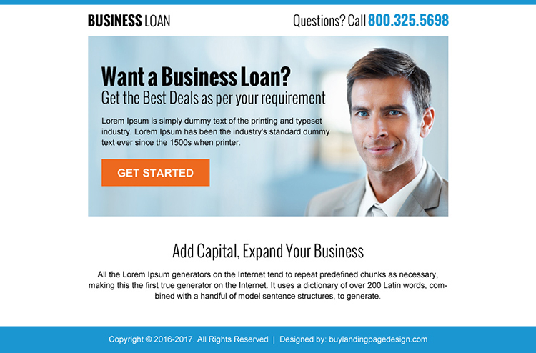 expand your business with business loan ppv landing page