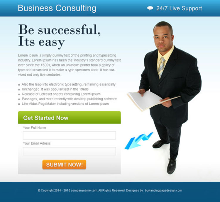 business opportunity lead capture ppv landing page