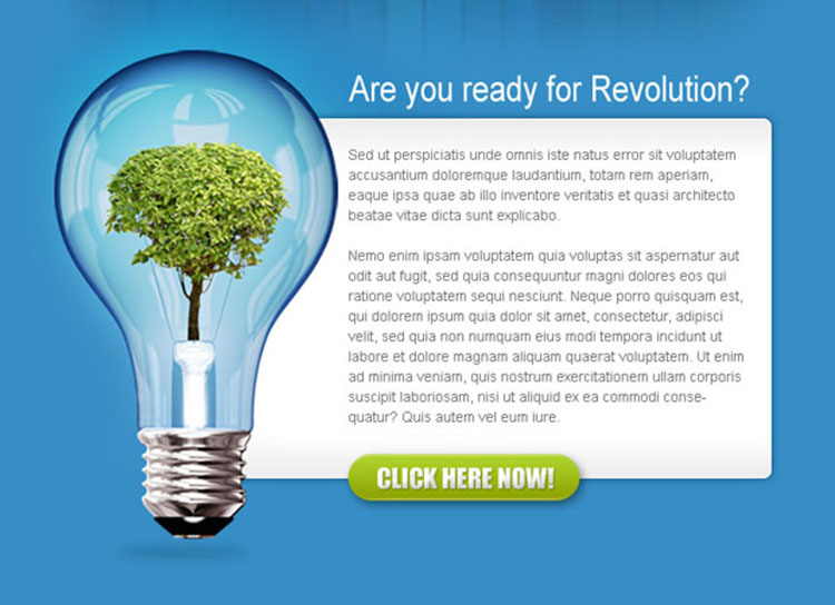 business revolution converting ppv landing page design