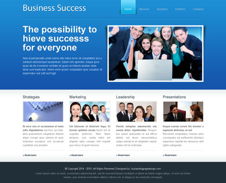 website template psd to make your business a huge sucess
