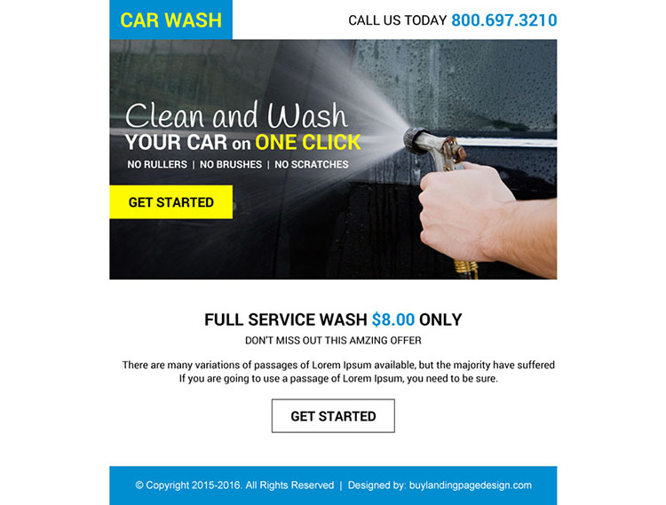 full car wash service lead capturing ppv design