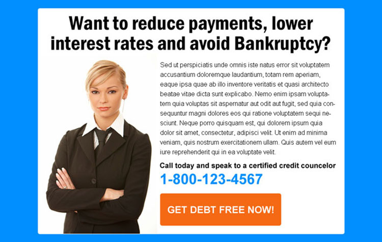 reduce payments and lower interest rates debt ppv landing page
