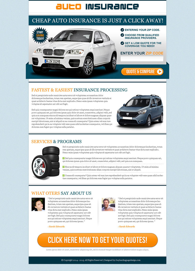 cheap and fast auto insurance lp 024 auto insurance landing page design preview. Black Bedroom Furniture Sets. Home Design Ideas