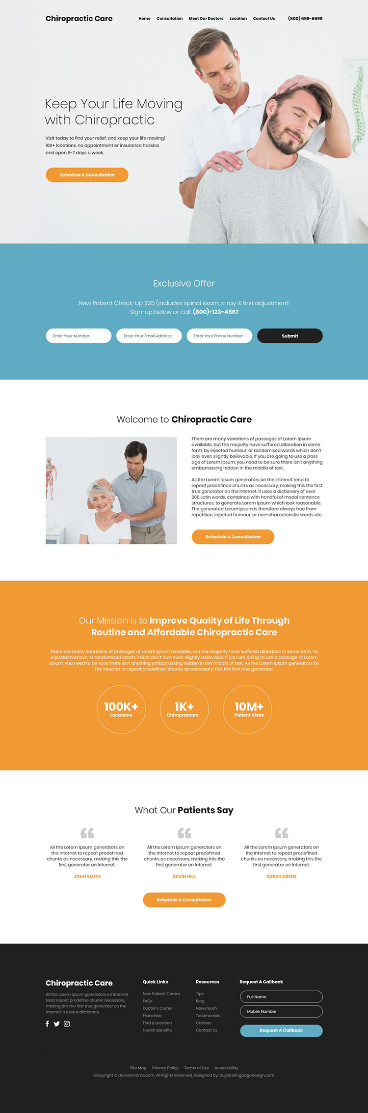 affordable chiropractic care responsive website design