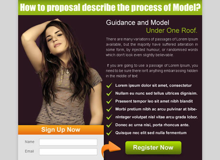 guidance and model effective lead capture ppv landing page template