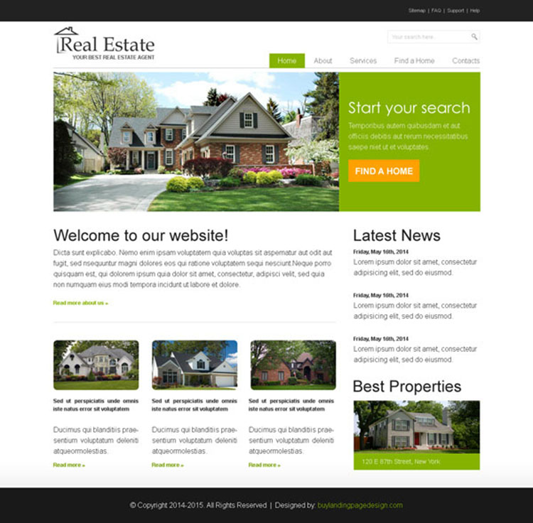 Estate Agent Web Design