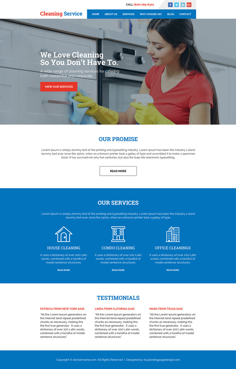 Previous Next Cleaning Services Minimal Website Design