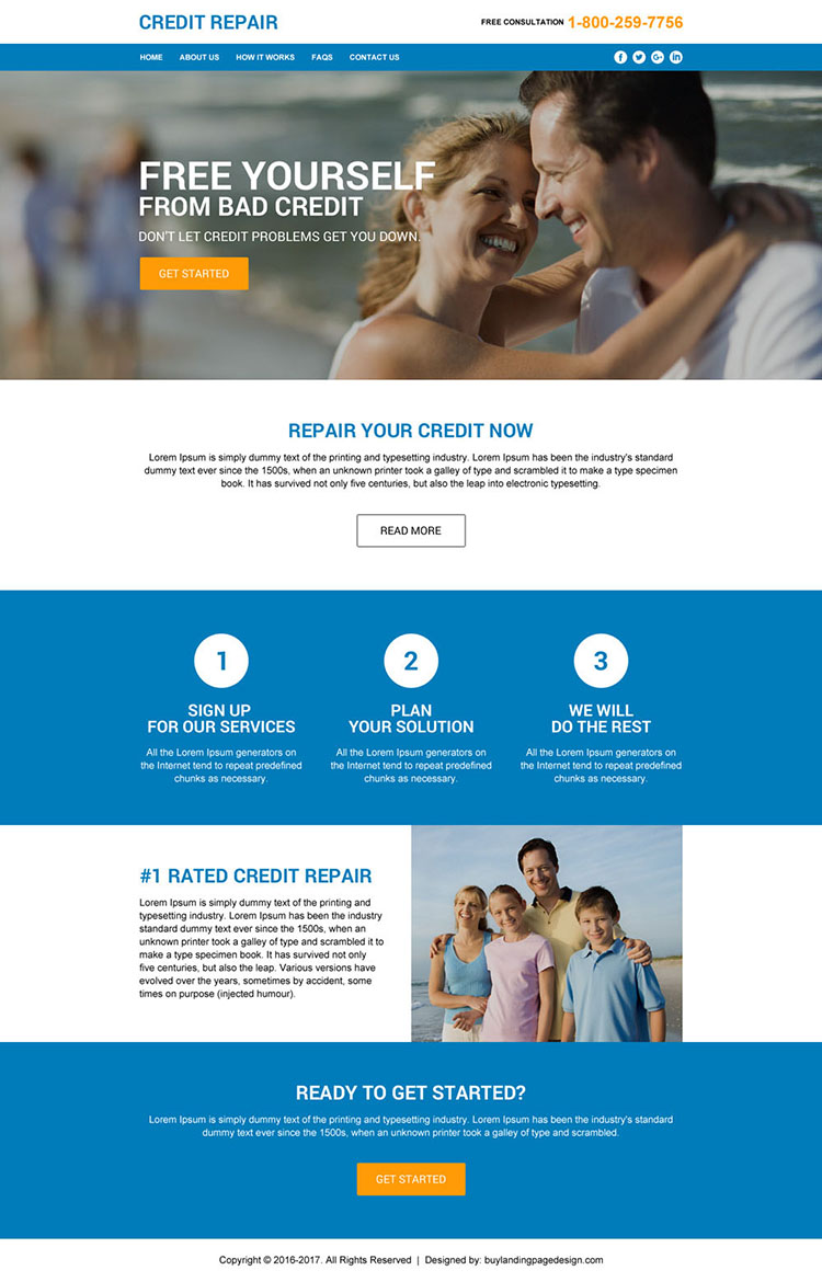 credit repair responsive html website design