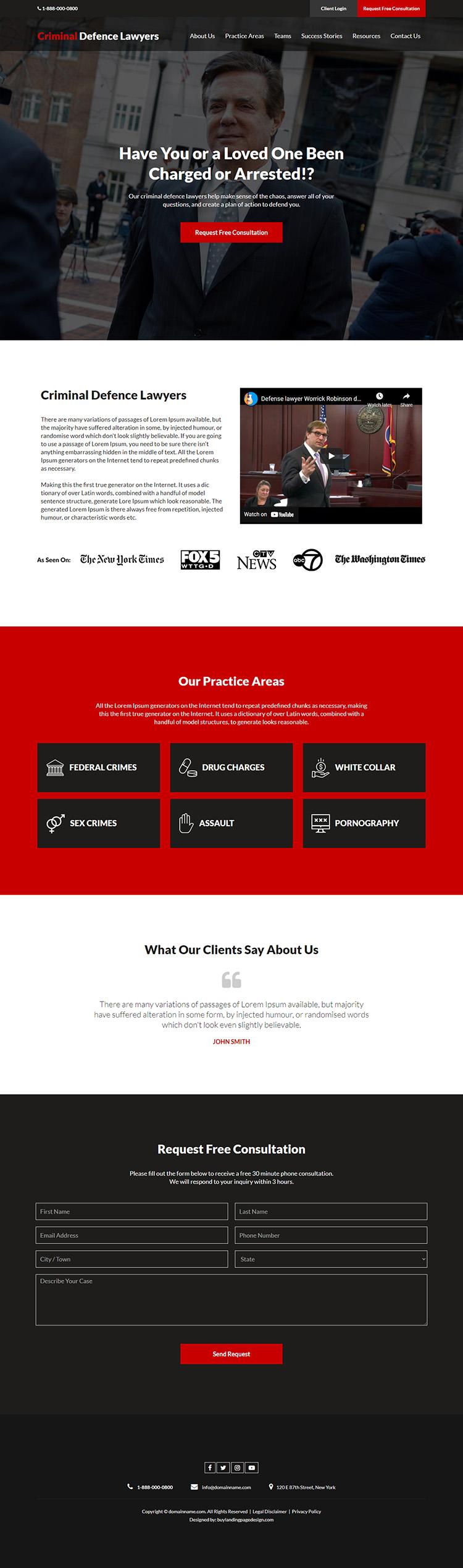 criminal defence lawyer responsive website design