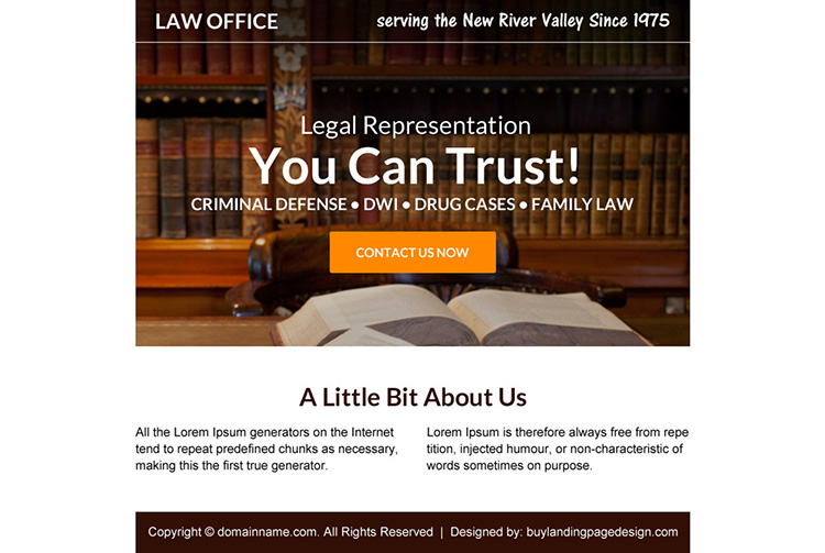 criminal defense lawyer free consultation ppv landing page design