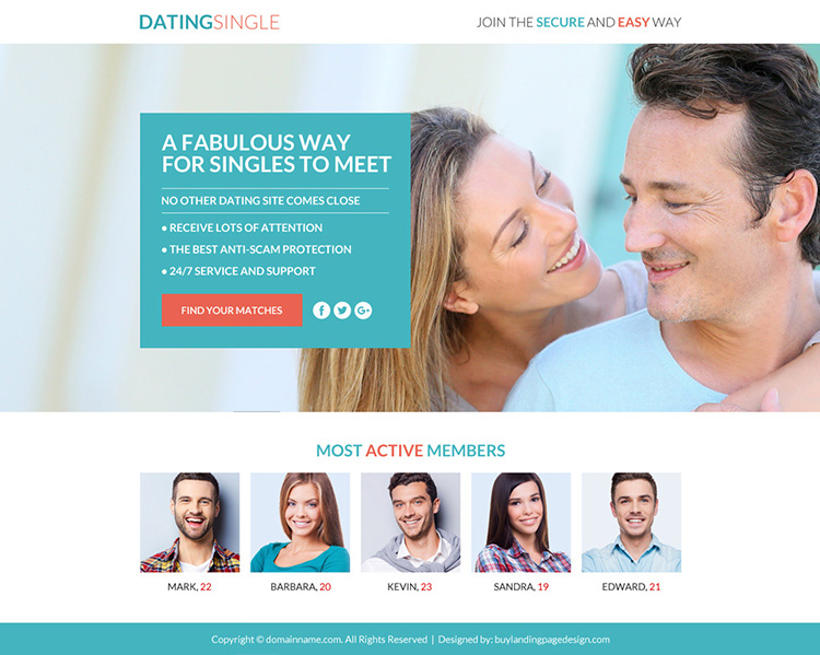 dating membership sign up responsive funnel design
