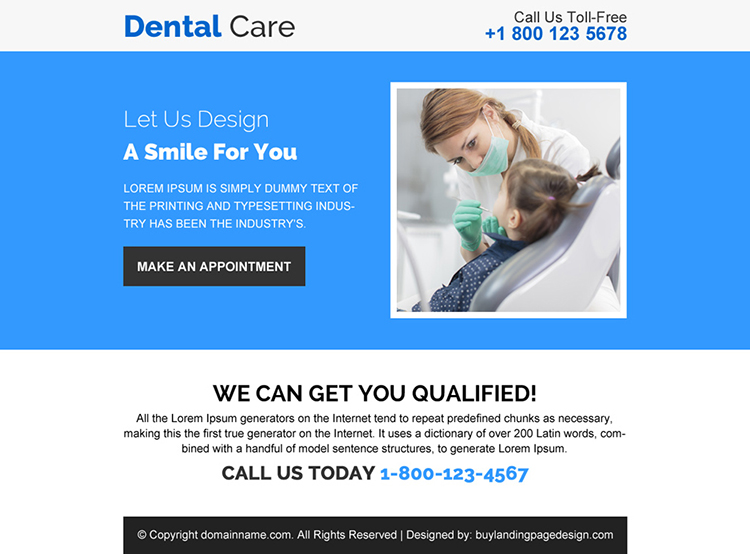 dental care appointment booking ppv design