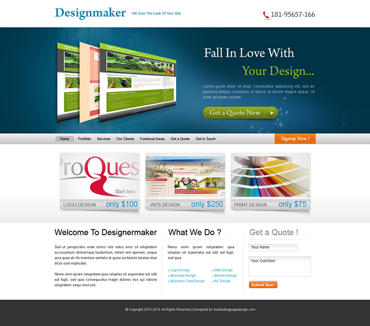 web design company website template design psd