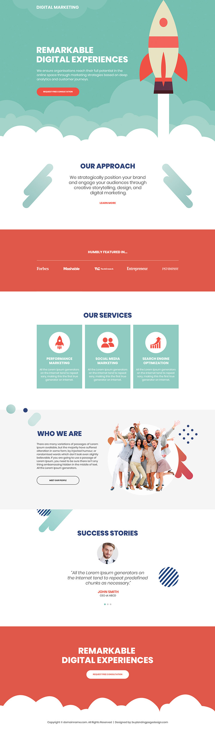 digital marketing free consultation responsive landing page