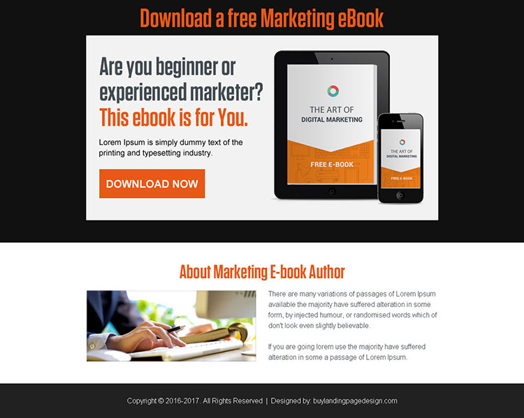 download free marketing ebook ppv landing page design
