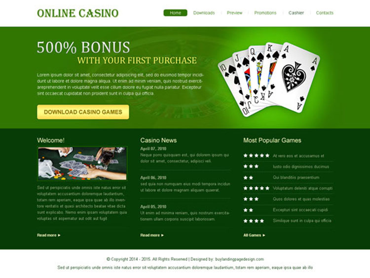 free casino games for your website