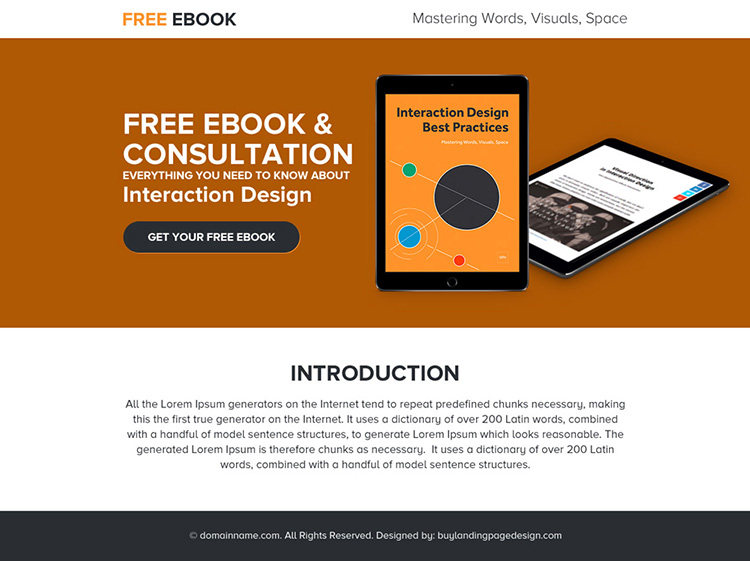 free ebook and consultation ppv landing page design