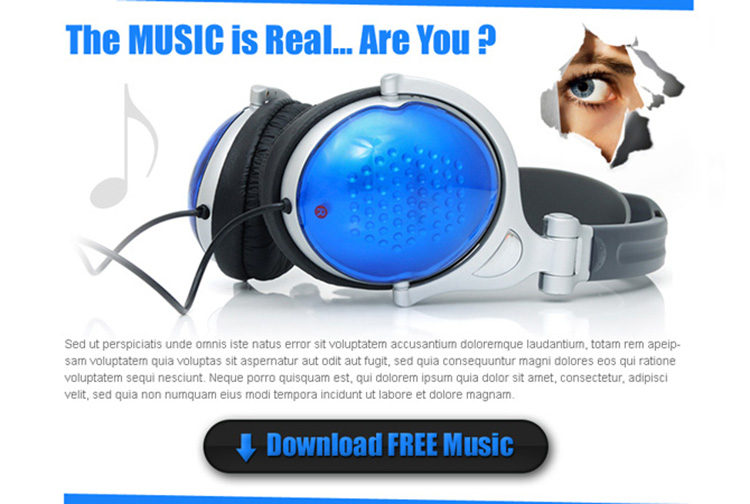 download free music clean and effective ppv landing page design