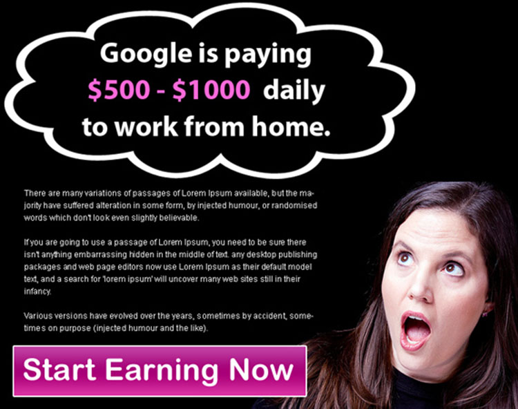 start earning from google attractive ppv landing page design template