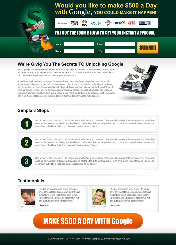 secrets to unlocking google clean and effective lander design