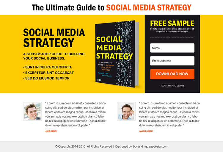 ebook free sample download lead capture ppv landing page design