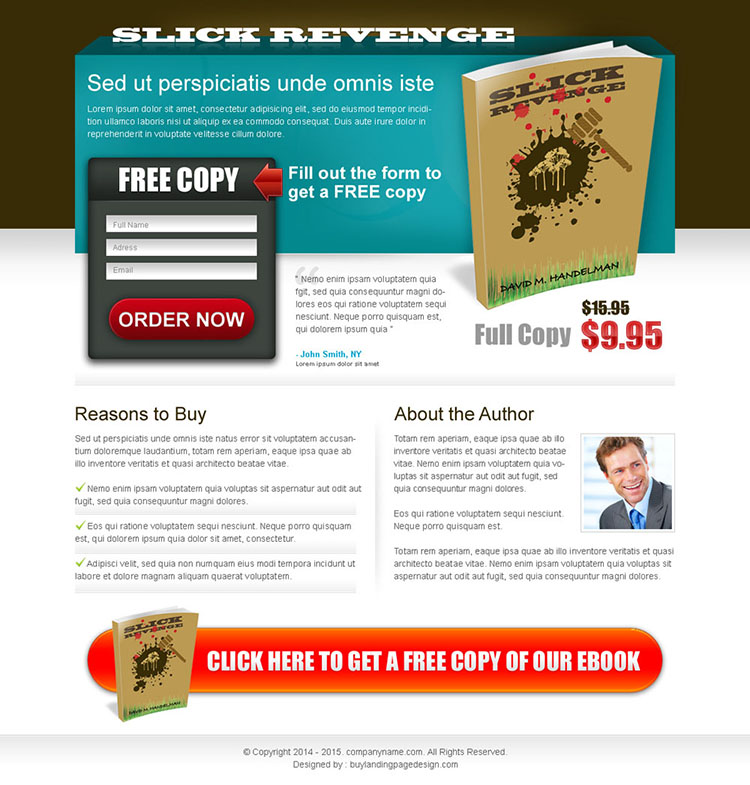 ebook free copy lead capture squeeze page design