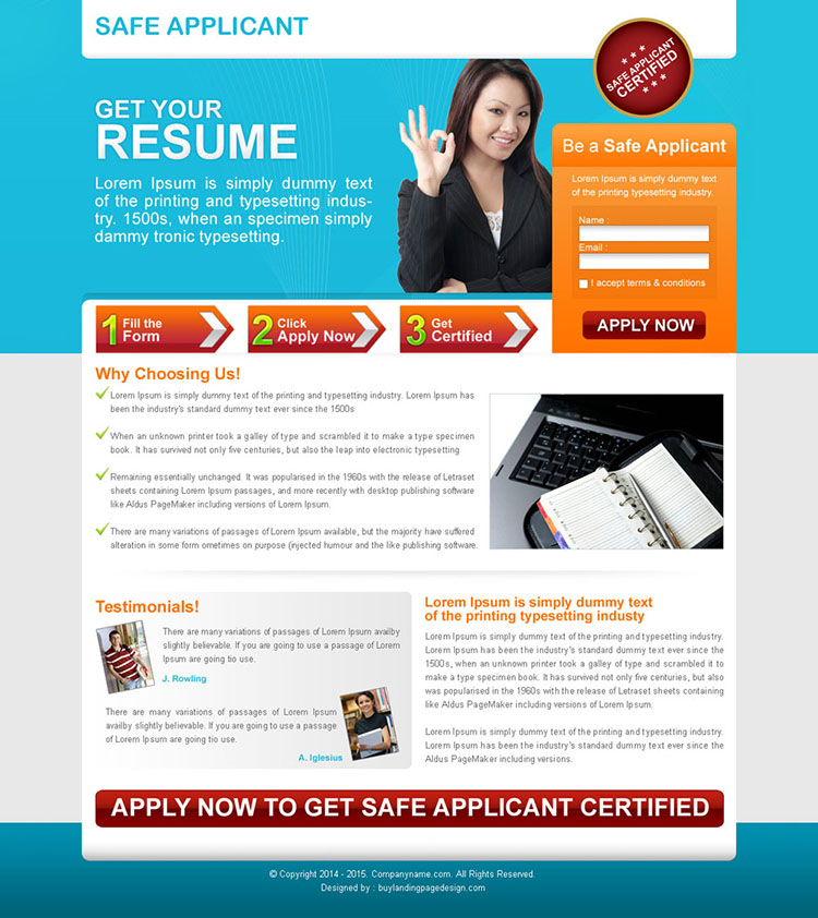 small lead capture education squeeze page