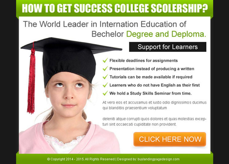 world leader in international education most converting ppv landing page design template