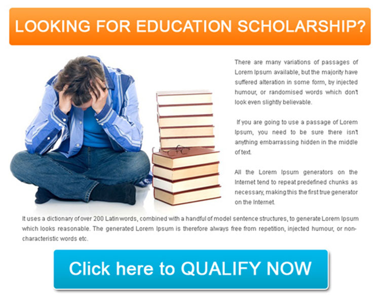 education scholarship lead generation simple ppv landing page design