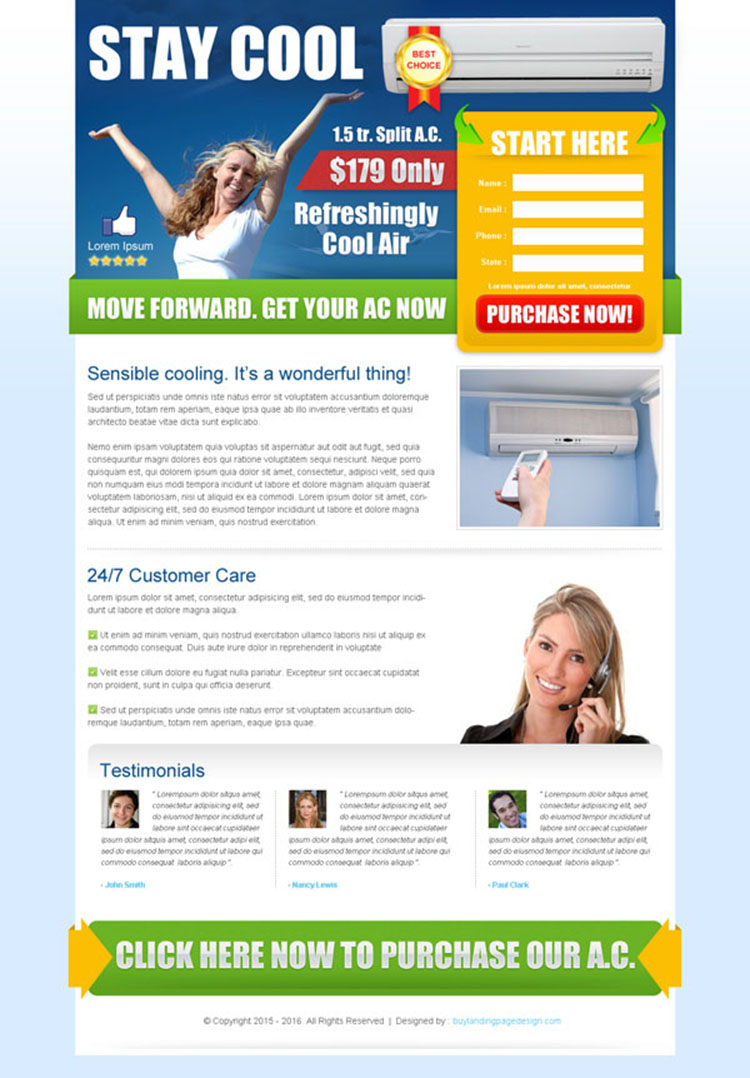 electronics product lead capturing landing page template