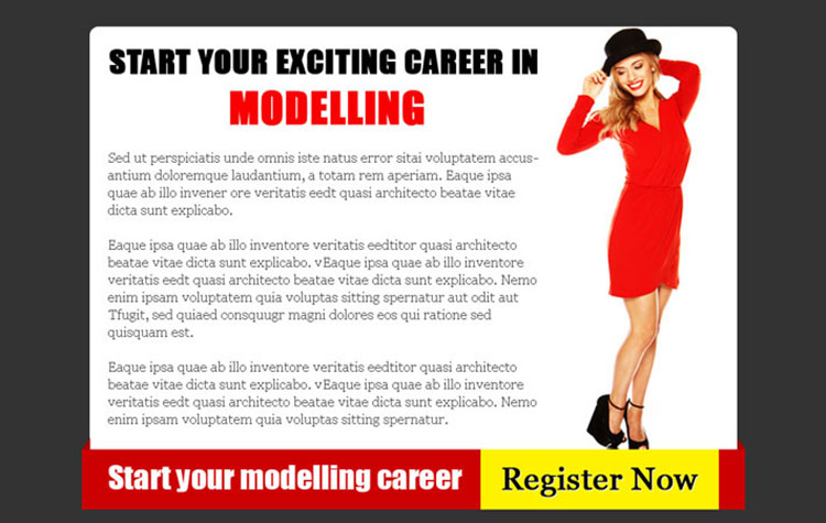fashion and modeling attractive and appealing ppv landing page design