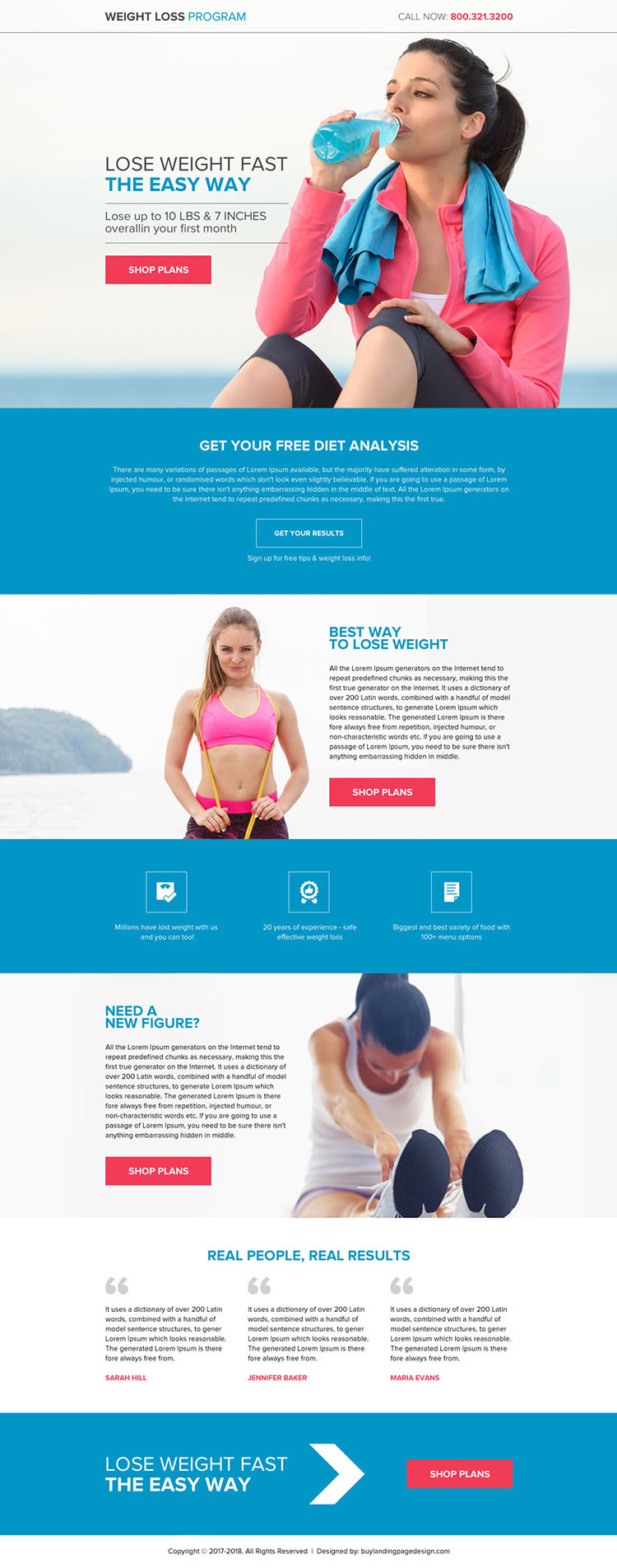 appealing weight loss programs premium landing page design