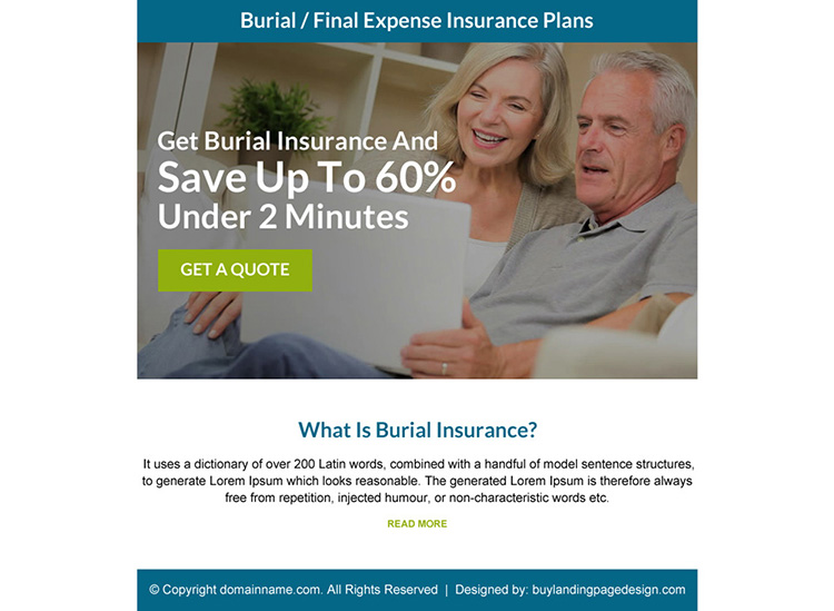 final expense insurance plans call to action ppv landing page