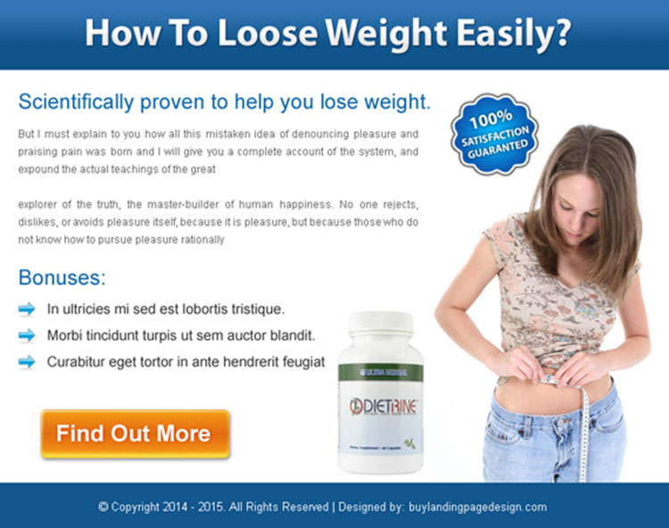 weight loss product call to action effective ppv landing page design