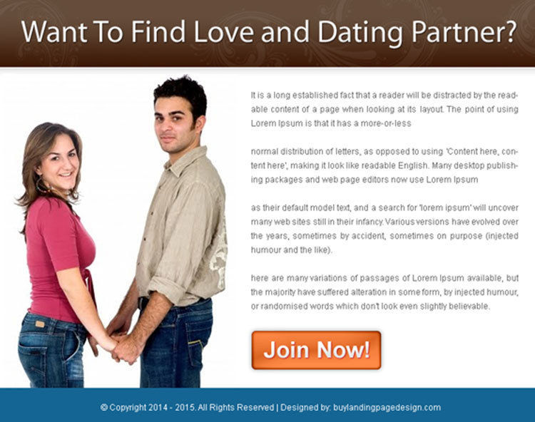 find love and dating partner free signup ppv landing page