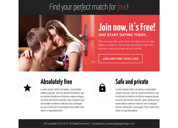 find your perfect match for free call to action ppv landing page