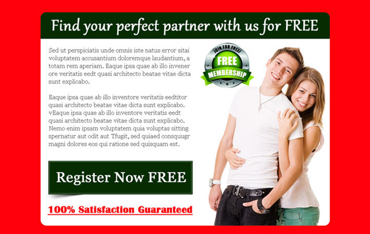 find your perfect partner partner with us free converting dating ppv landing page