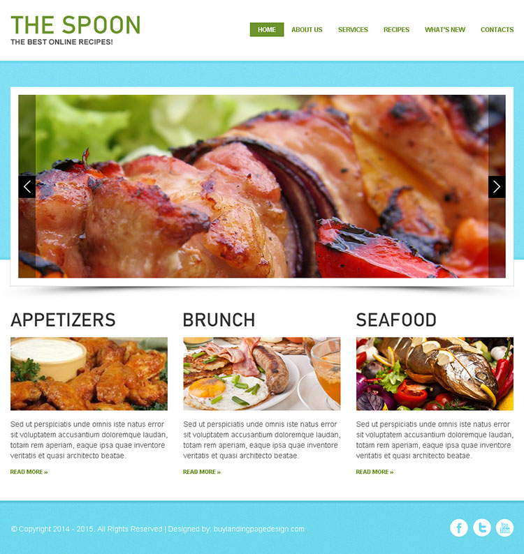 attractive and appealing best online recipes html website template