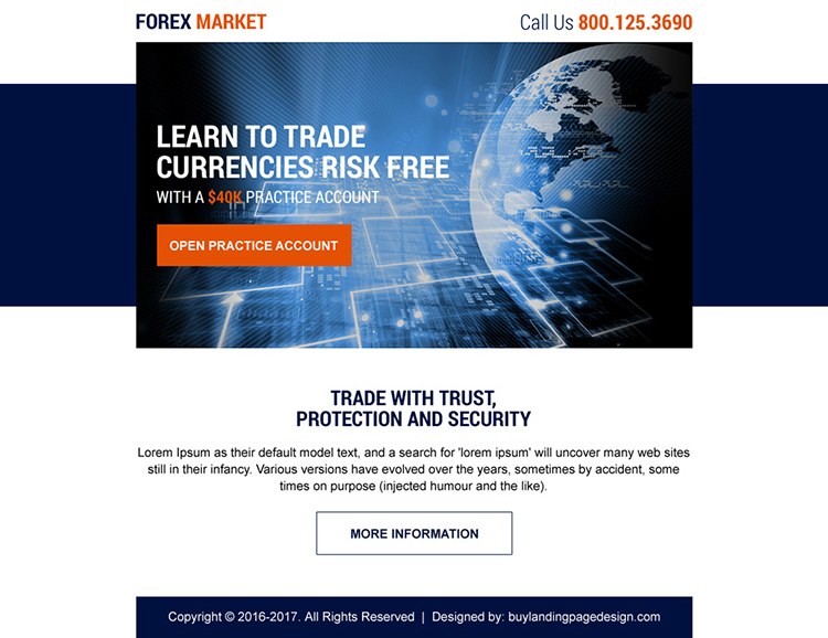 forex trading sign up capturing ppv landing page design