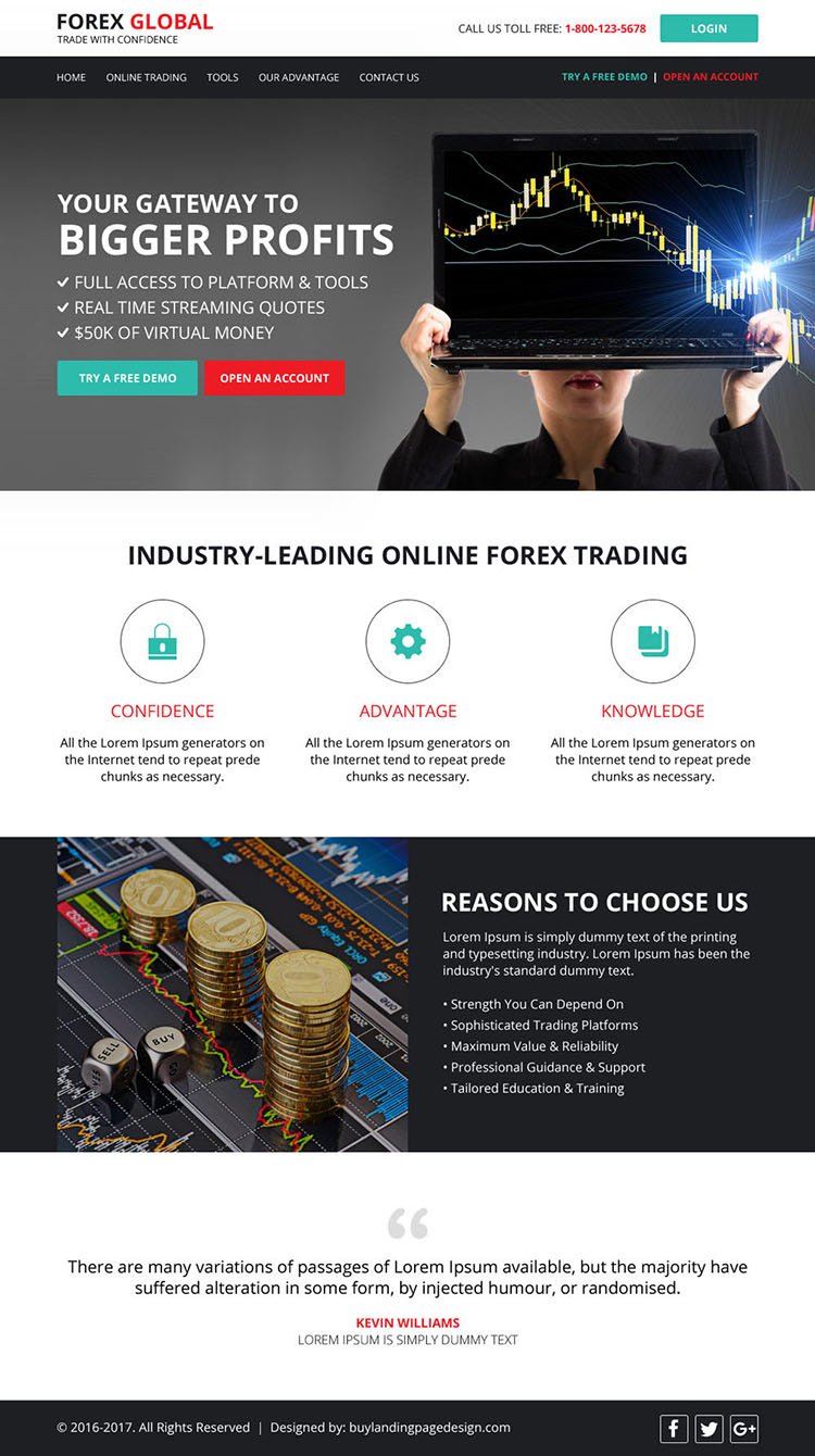 html website template design for forex trading business