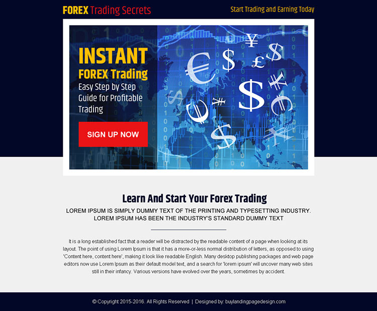 instant forex trading step by step guide lead capture ppv landing page design