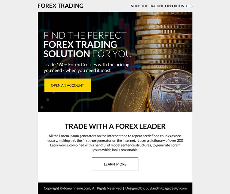 forex trading solution ppv landing page design