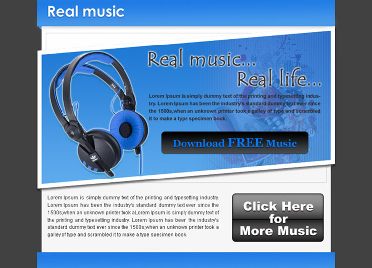 real music real life call to action converting ppv landing page design templates