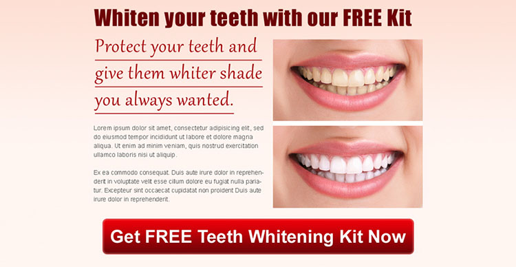 protect your teeth and give them whiter shade you always wanted ppv landing page design