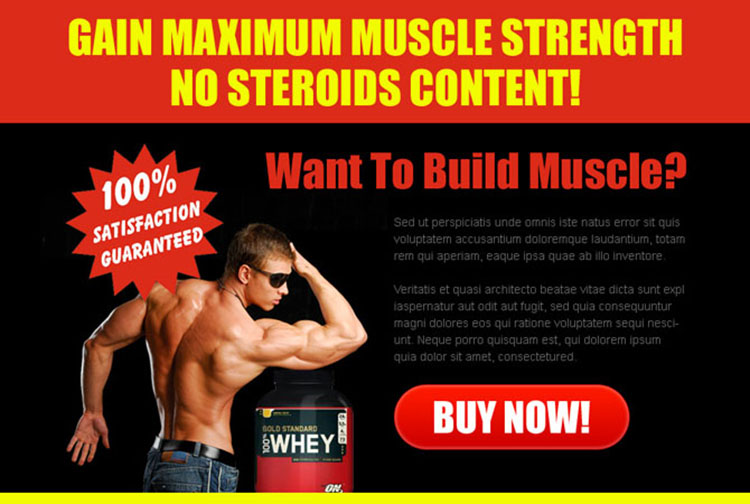 gain maximum muscle strength attractive ppv landing page design