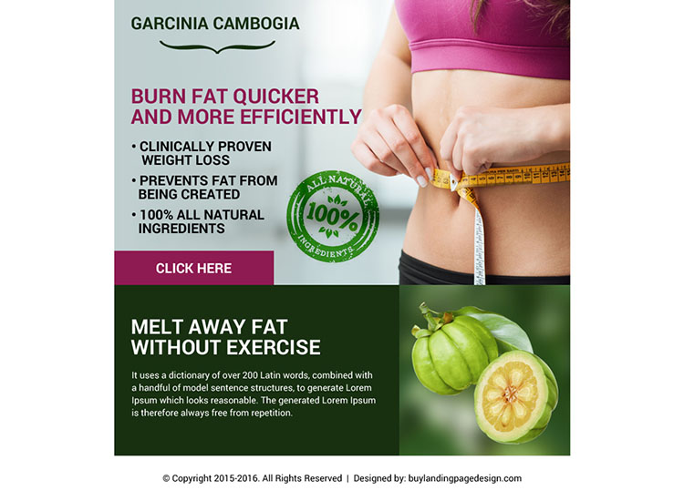garcinia cambogia weight loss ppv landing page design