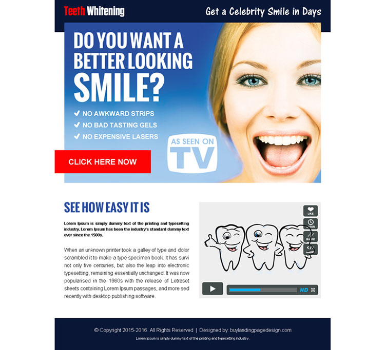 get a celebrity smile in days converting ppv landing page